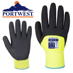 Portwest Arctic Winter Cut Resistant Nitrile Grip Insulated Work Gloves (M-XXL)