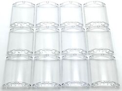 Lego 12 New Trans-Clear Cylinder Quarter 4 x 4 x 6 Transparent Pieces