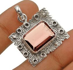 14CT Natural Amethyst 925 Solid Sterling Silver Pendant Jewelry C17-2