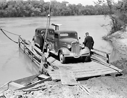 1939 Ferry From Camden to Gees Bend AL Old Photo 8.5quot; x 11quot; Reprint $12.58