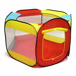 Folding Portable Playpen Baby Play Yard Kids Play House Ball Tent 6-sided House