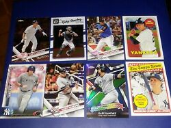 8 CARD ROOKIE LOT GARY SANCHEZ YANKEES 2016 2017 CHROME REFRACTOR +
