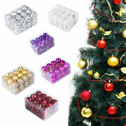 US Stock Christmas Tree Hanging Balls Decor Party Wedding Baubles Ornament 24Pcs