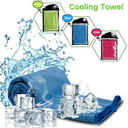 Quick Dry Cooling Soft Towel Chilly Pad Sweat Neck Wrap GymCyclingRunningYoga $4.59