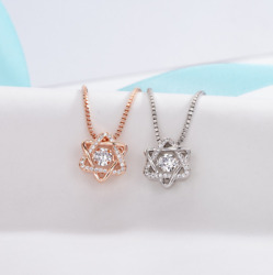 Star Of David Silver amp; Crystal Pendant Necklace Jewish Magen Shield Gift Box S2 $9.95