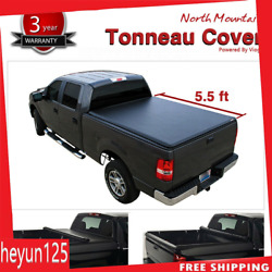 Black Soft Vinyl Lock & Roll-Up Tonneau Cover Assembly Fit 14-19 Tundra 5.5' Bed
