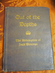 Out of the Depths Redemption of Jack Donovan by HB Mitchell PB  1920  RARE