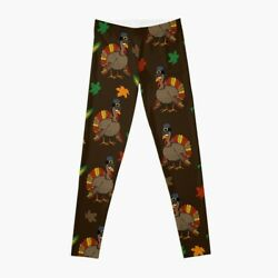 Thanksgiving Turkey - Brown Leggings For Women Thanksgiving Turkey Leggings
