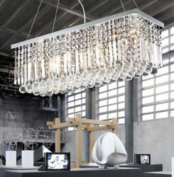 Modern K9 Crystal Rectangle Ceiling Light Home Chandelier Pendant 60 80cm $154.84