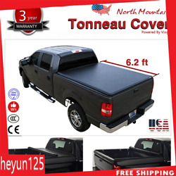 Folding Tonneau Cover Assembly Black Soft Vinyl Roll-Up Fit 6' Fleetside Bed USA