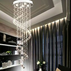 LED Crystal Chandelier Rain Drop Ceiling Lamp Lighting Pendant Light Fixtures $122.39