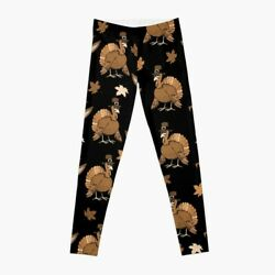 Thanksgiving Turkey Pattern Leggings For Women Thanksgiving Turke