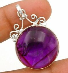Natural Chevron Amethyst 925 Solid Sterling Silver Pendant Jewelry C15-8