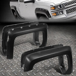FOR 14-19 CHEVY SILVERADO 1500 5.8' BED 4PCS POCKET-RIVETED WHEEL FENDER FLARES