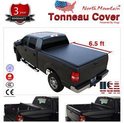 Folding Tonneau Cover Assembly Black Soft Vinyl Roll-Up Fit 6.5' Fleetside Bed