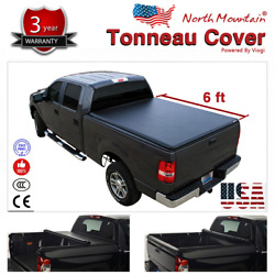 Folding Tonneau Cover Assembly Black Soft Vinyl Roll-Up Fit 6' Fleetside Bed