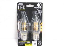 NOS 2 FEIT ELECTRIC DIMMABLE CHANDELIER LED BULBS 40W BPEFC40 927 LED 2 $4.99