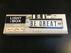 Light Box 100 Inserts Letters Emoticons Pack Brand New Cordless Desktop Size $12.00
