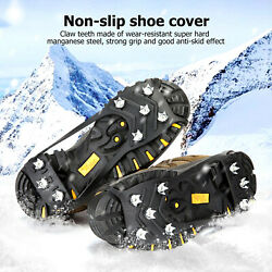 Ice Snow Grips Anti Slip On Over shoe Boot Studs Crampons Cleats Spikes Grippers $10.96
