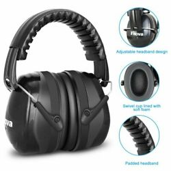 34dB Highest NRR Safety Ear Muffs Shooting Hearing Protector Black Ear Defenders $13.89