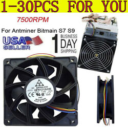 7500RPM Cooling Fan Replacement 4-pin Connector For Antminer Bitmain S7 S9 LOT $309.99