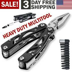 Multi Tool Knife Pliers Saw Kit Folding Screwdriver Bits Outdoor Camping Knives $11.99