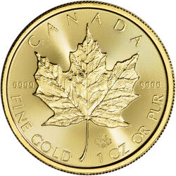 2020 Canada Gold Maple Leaf 1 oz $50 - BU $1,906.86