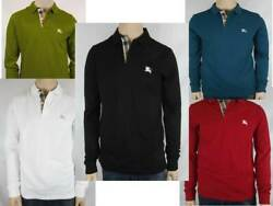 Burberry Brit Men's Long-Sleeve Pique Polo Shirt Check Placket S M L  $94.95