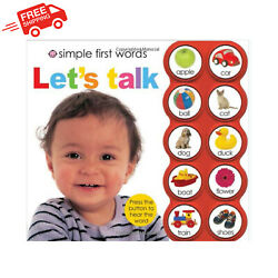 `Learning Toys for 1 2 3 Year Old Best Girls Boys First Words Educational Book $19.89
