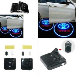 2x Toyata Car Door Welcome LED Lights Courtesy Projector Ghost Shadow Sticker