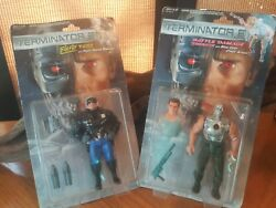 Terminator2 Battle Damaged Terminator Blaster T-1000 Kenner 1991 NOS LOT OF 2