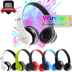 Bluetooth Wireless Headphones On Ear Foldable Stereo Noise Cancelling Headset $12.95
