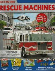 Build Own Rescue Machines 4 Figures Book Play Mat Stickers 179 Bricks 6 Yrs New $34.99