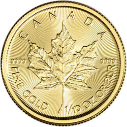 2020 Canada Gold Maple Leaf 1 10 oz $5 BU $222.99