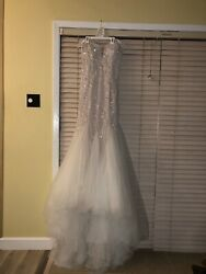 Beaded Tulle Sweatheart Wedding Dress