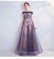 Women Luxurious Floral Sexy Stage Gown Party Sleeve Floral Evening Dress KK00 $52.47