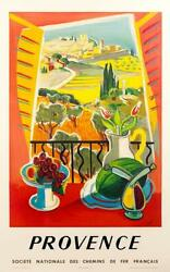 FRENCH VINTAGE TRAVEL POSTER TO THE PROVENCE FRANCE BY TAL $275.00