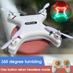Mini Four axis RC Aircraft 2.4G Remote Control LED Pocket Drone Kids Xmas Gift $20.00