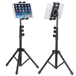 Foldable Height Adjustable Floor Tablet Tripod Stand Mount for iPad Cellphone $29.91