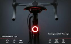 Bicycle Rear Light USB Charge Led Multi Lighting Modes Flash Bike Tail Lights $15.76