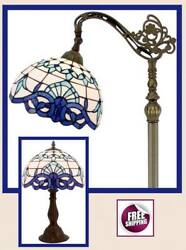 Tiffany Style Floor Table Desk Lamp Shade Vintage Victorian Glass Mosaic New $259.00