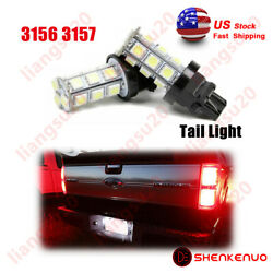 2PCS 3157 3156 Red LED Brake Stop Light Parking Bulbs FOR Ford F-150Ram 1500 $9.73