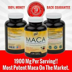 Organic Black Red Yellow MACA ROOT Powder Capsules 1900 mg For Men Women 120 CT $16.99