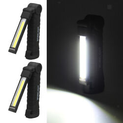 Set of 2 Work Light Flashlight Rechargeable Magnetic Base 360° Rotate $19.89