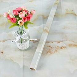 EBuyers Blue White Marble 23.6quot;x118quot; contact paper with smoothing tool and knife $22.50