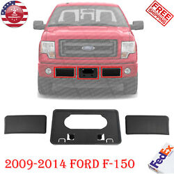 Front Bumper Guards Pads & License Plate Frame Bracket For 2009-2014 Ford F-150 $35.00