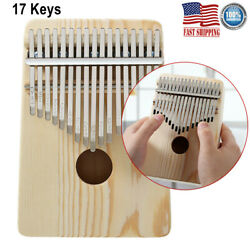 17 Key Kalimba Thumb Piano Finger Solid Wood Percussion Musical Instrument Gifts $15.76