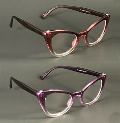 NWT Cute Women Cat Eye Clear Lens Glasses Therese Retro Classic Vintage Frame