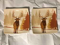 Cypress Home Plates Deer Nature Hunter Animal Outdoor Theme Neutral Fall $17.89