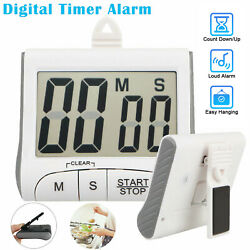 LCD Digital Large Kitchen Cooking Timer Count Down Up Clock Loud Alarm Magnetic $9.28